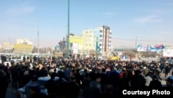 Kermanshah protests in late December 2017.