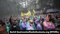 Водії, які мають єврономери, мітингують у центрі Києва, 11 липня 2018 року
