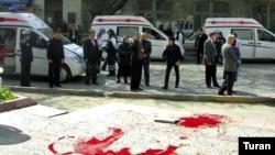 Neft Akademiyasının tələbələri «Azadlıq» radiosunun əməkdaşlarına deyiblər ki, bir neçə nəfər ölüb, onlarla yaralı var