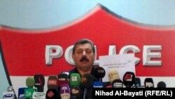 قائد شرطة كركوك اللواء جمال طاهر يتحدث في مؤتمر صحفي