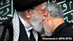 دیدهبوسی علی خامنهای با قاسم سلیمانی، آذر ۱۳۹۶