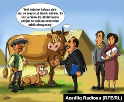 Azerbaijan - cartoon on Ministry of Agriculture
