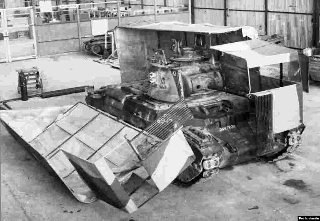 In the leadup to the second battle of El Alamein, British forces disguised tanks as trucks...