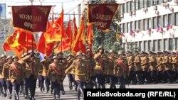 Військовий парад, приурочений перемозі у «Великій вітчизняній війні» у тимчасово окупованому Донецьку. Донецьк, 24 червня 2020 року