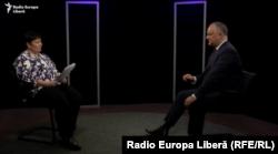 Președintele Igor Dodon în studioul Europei Libere de la Chișinău