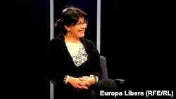 Silvia Radu, în studioul Europei Libere, 22 ianuarie 2016