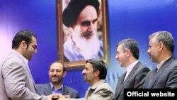محمود احمدینژاد در مراسم تجلیل از مدالآوران ورزشی