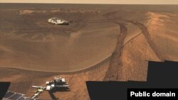 Sonda Opportunity e agjencisë NASA gjatë një misioni të mëparshëm në Mars