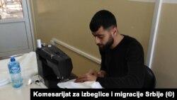Migranti su sašili maske za sve stanovnike i zaposlene u Prihvatnom centru u Bujanovcu