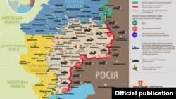 The situation in the Donbas combat zone as of August 18, 2017