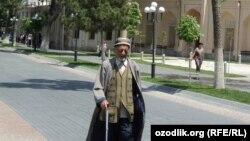 Пожилой житель Самарканда.