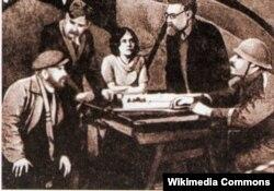 Сцэна са спэктакля «Сяржант Дроб» Эдуарда Самуйлёнка, 1936 год