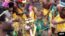 Обрядовый танец мужчин Вануату