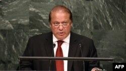 Премьер-министр Пакистана Наваз Шариф в Генеральной Ассамблее ООН, 30 сентября 2015 года.