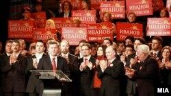 Архивска фотографија: Претседателскиот кандидат Ѓорге Иванов зборува на изборната конвенција на ВМРО-ДПМНЕ во 2009 година.