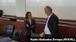 Поранешната министерка за внатрешни работи Гордана Јанкулоска во Апелациониот суд Скопје