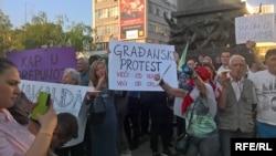 Protest građana Niša protiv poklanjanja aerodroma državi, 25. april 2018.