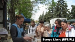 La o piață din Tiraspol
