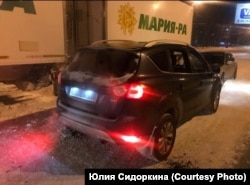 Разбитая машина Сергея Петроченко