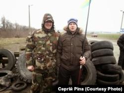Активіст Майдану Сергій Ріпа на блопосту під Корсунем-Шевченківським у лютому 2014 року