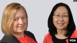 Директор «Голоса Америки» Аманда Беннетт и ее заместитель Сандра Сугавара