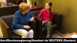 Angela Merkel i Greta Tunberg u Njujorku
