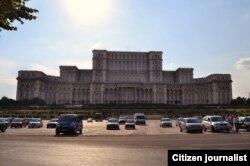 Дагэтуль не завершаная спаруда Дому народу ў Бухарэсьце