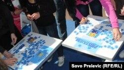 Podgorica: Jedna od akcija za promociju priključenja NATO-u - iz arhive