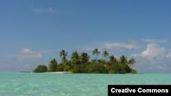 Pamje e një ishulli në Maldive