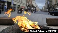 Vječna vatra u Sarajevu, spomenik oslobodiocima grada u Drugom svjetskom ratu