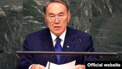 Президент Казахстана Нурсултан Назарбаев на саммите ООН по принятию повестки дня в области развития на период после 2015 года. Нью-Йорк, 27 сентября 2015 года.