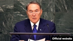 Kazakh President Nursultan Nazarbaev made his remarks at the UN General Assembly in New York.