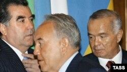 Каримов, Назарбаев, Рахмон. Москва, 2005-жыл.