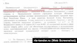 Договір про виступ російської групи «Самоцветы» в Ялті 12 серпня 2017 року