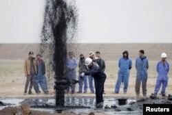 İraqda neft fontanı