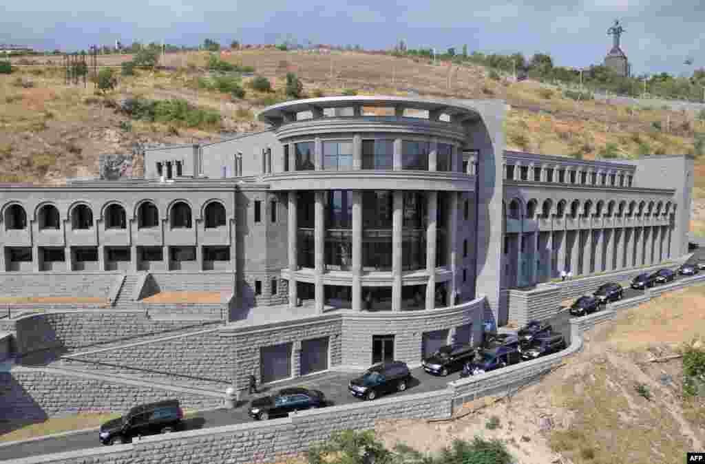 The newly constructed Matenadaran Museum, which houses one of the largest collections of historical documents in the world.