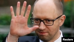 Ukrainian Prime Minister Arseniy Yatsenyuk announced his resignation on July 24. (file photo)
