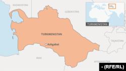 Туркменистан и соседние государства на карте.