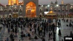 تصویری از بازگشایی صحن حرم «امام رضا» در مشهد