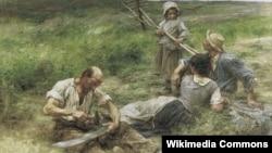 Леон Агюстэн Лерміт, «Касьба» (1887)