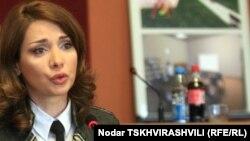 Хатуна Калмахелидзе в бытность министром по исполнению наказаний, пробации и юридической помощи Грузии.