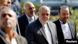 Iran's ambassador to Iraq, Erg Masjedi (C) attends the opening of Baghdad International Fair, in Baghdad, Iraq November 10, 2018.REUTERS