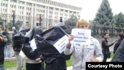 Ала качууга каршы акция. Бишкек, 18-октябрь, 2012.