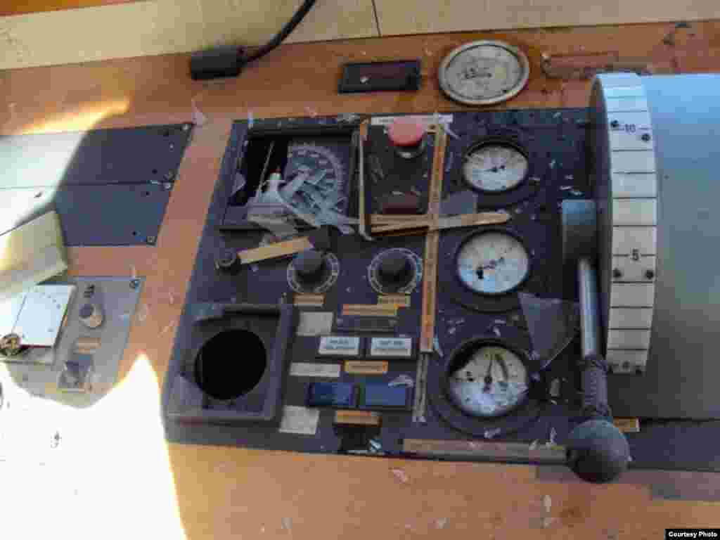 "Damaged navigational equipment on the ""Vasilios N"" - In January, with the ""Vasilios N"" already entering its ninth month of port arrest, a distraught crew member set fire to the captain's bridge. The fire was put out before causing any extensive damage to the vessel or putting the crew at risk. But the ship's navigational equipment was destroyed."