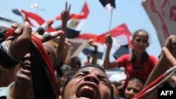 Një nga protestat në Egjipt...