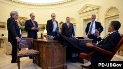 Barack Obama şi consilierii săi