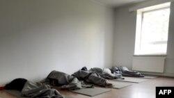 В лагере для беженцев в Финляндии. Иллюстративное фото.