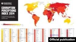 Azərbaycanda korrupsiyanın faiz indeksi, 2014