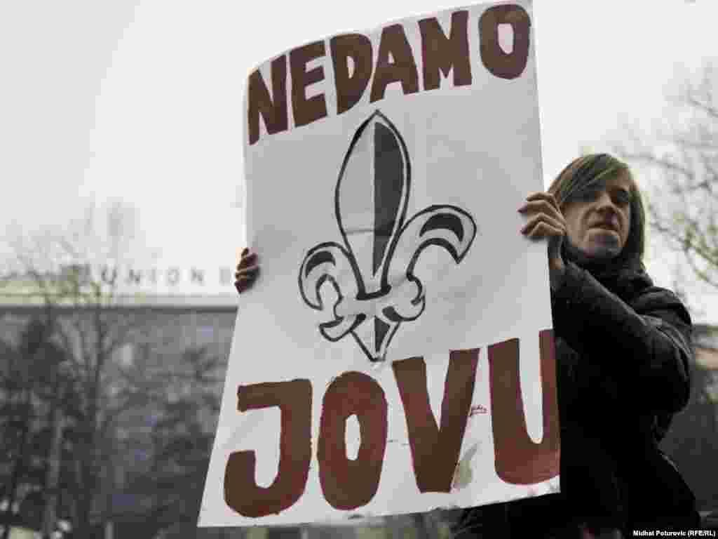 Protest zbog hašenja Jovana Divjaka u Sarajevu, 5. marta 2011