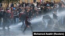 Beyrutda etiraz aksiyası , 18 yanvar, 2010